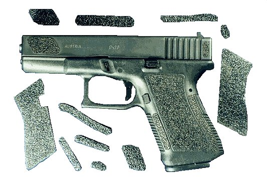 Decal Grip G17R For Glock 17/18/22/24/31/34/35 Grip Decals Blk Rubber Pre-cut Ad