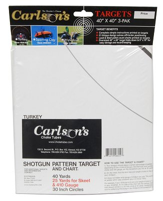 Carlsons 00300 Turkey Patterning Target 3 Pack