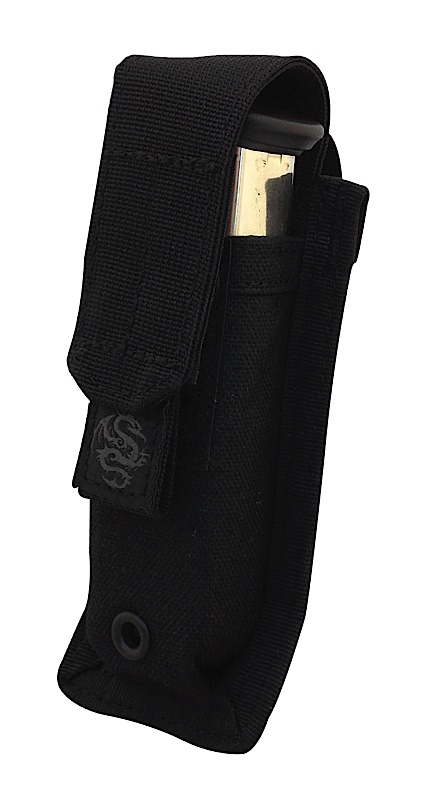 Tacprogear PSPM1 Single Pistol Magazine Pouch Nylon Black
