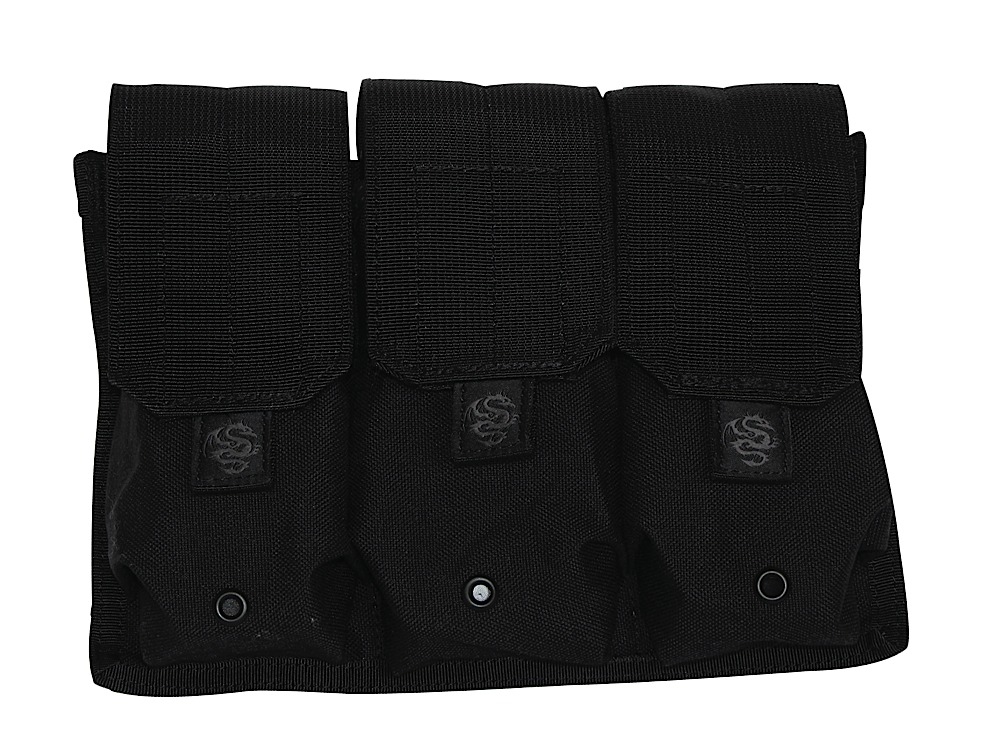 Tacprogear PTRM1 Triple M4/M16 Rifle Magazine Pouch Nylon Black