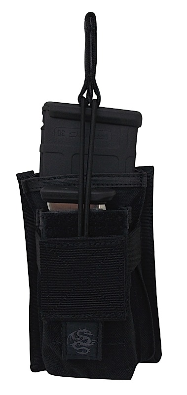 Tacprogear PRPM1 Single M4/M16 Rifle Mag Pouch w/ Pistol Mag Pkt Blk